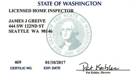 JJ Greive Licensed Home Inpector