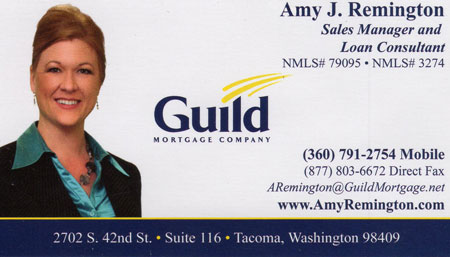 Amy Remington Loan Consultant 360-791-2754