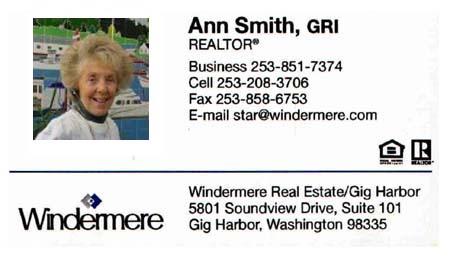 Realtor Anne Smith (253) 208-3706