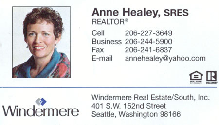 Anne Healey Realtor 206-227-3649