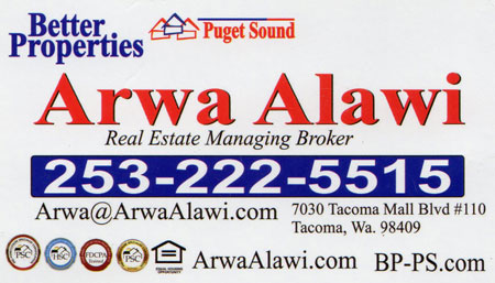 Arwa Alawi Arabic Islamic Financing 253-222-5515