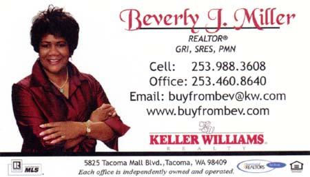 Realtor Beverly Miller  253-988-3608