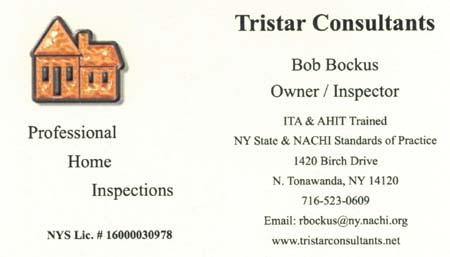 Tristar Consultants Bob Bockus  rbockus@roadrunner.com   New York (716) 523-0609