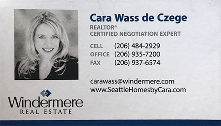 Cara Wass de Czege Realtor 206-484-2929