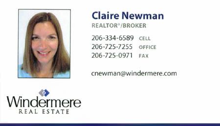 Claire Newman Realtor 206-334-6589