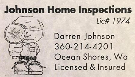 Darren Johnson Home Inspector 360-214-4201