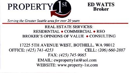 Broker Ed Watts 425-741-4253