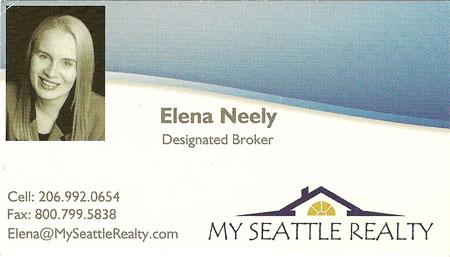 Elana Neely Realtor 206-992-0654
