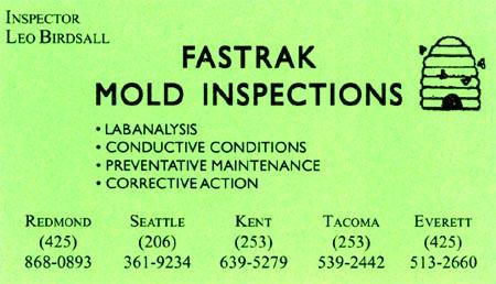 Fastrak Mold Inspections 206-361-9234