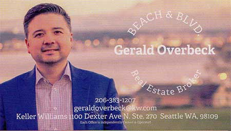 Gerald Overbeck Realtor 206-383-1207