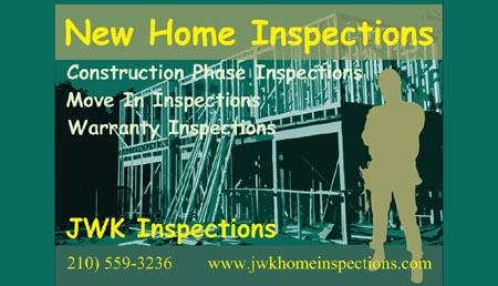 JWK Inspections Joe Keresztury joeksatx@gmail.com  San Antonio, TX (210) 559-3236