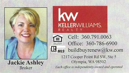 Jackie Ashley Realtor 360-791-0063