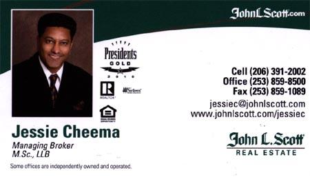 Jessie Cheema 206-391-2002 Real Estate Agent