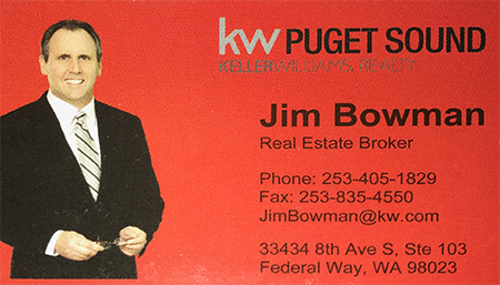 Jim Bowman Real Estate Broker 253-405-1829