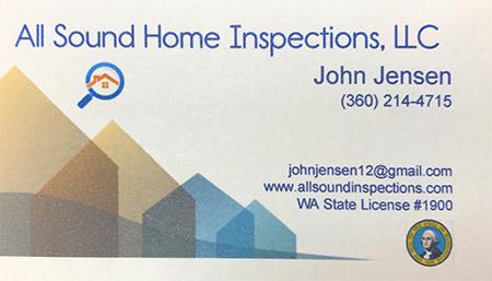 John Jensen Home Inpections 360-214-4715
