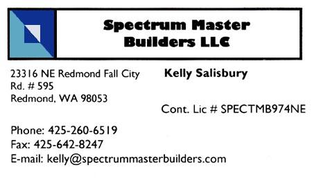 Kelly Salisbury - General Contractor Spectrum Master Builders