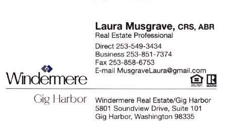 Realtor Laura Musgrave 253-549-3534