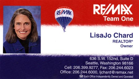 Realtor - Owner Lisa Jo Chard 206-399-9277