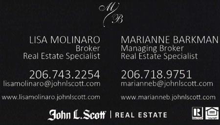 Lisa Molinaro 206-743-2252 Realtor