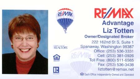 Realtor Liz Totten 253-381-0926
