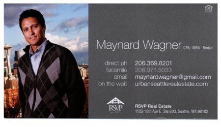 Maynard Wagner  206-369-8201 maynardwagner@gmail.com