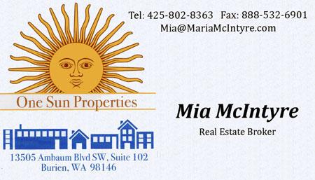 Mia McIntyre Realtor 425-802-8363