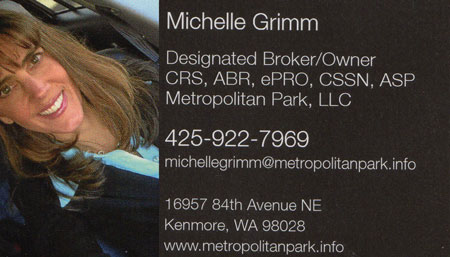 Michelle Grimm Real Estate Broker owner 425-922-7969