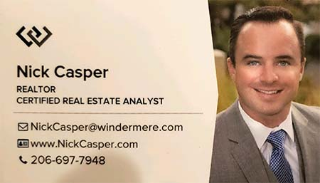 Nick Casper Real Estate Broker 206-697-7948