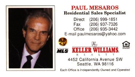 Realtor Paul Mesaros 206-999-1851