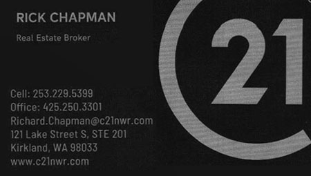 Rick Chapman Real Estate Broker 253-229-5339