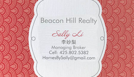 Sally Li 425-802-5382 homesbysally@gmail.com