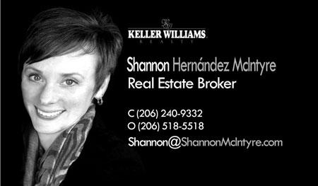 Shannon Hernandez Mcintyre Realtor 206-240-9332