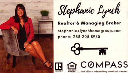 Realtor Stephanie Lynch (253) 203-8985