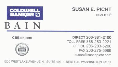 Susan Picht Realtor 206-381-2100