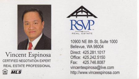 Vincent Espinosa Realtor 425-281-1017
