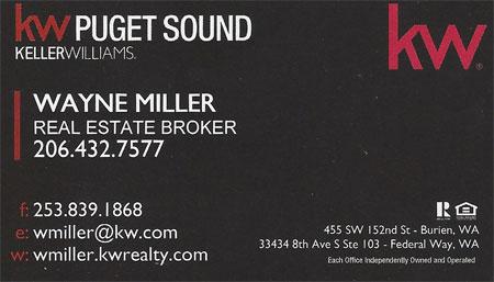 Wayne Miller - Realestate Broker 206-432-7577