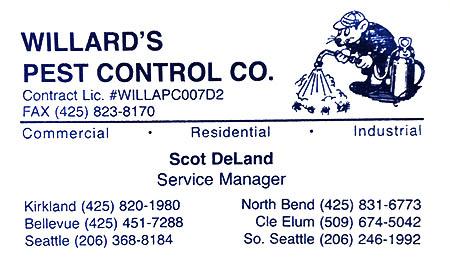 Willard's Pest Control (425) 820-1980