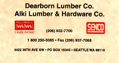 Alki Lumber   (206) 932-7700