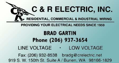 C & R Electric (206) 937-3654