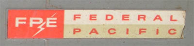 Federal Pacific lable